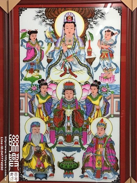 傳統玻璃畫八尊及一尊 2